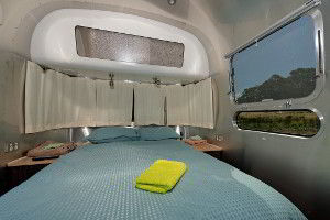 Airstream caravan bed
