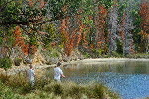 Fishing is a relaxing activity you can do in the waters near the Lodge