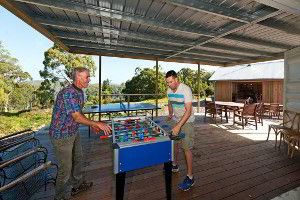 Foosball in the games area