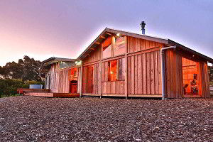 Rear view of Bruny Island Lodge