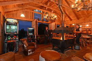 Bruny Island Lodge has a wood fireplace and arcade games for indoor entertainment