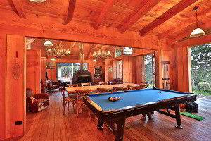 Pool table for indoor entertainment