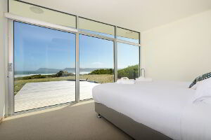 Master bedroom with a great view