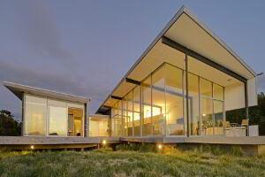 Cloudy Bay Beach House at dusk