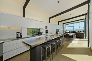 Modern kitchen facilities and appliances