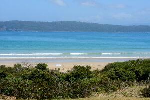 Pristine beach at Cloudy Bay Tasmania
