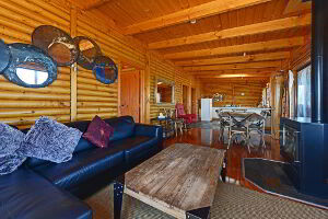 Lounge area inside the cabin
