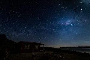 Cloudy Bay Cabin night view