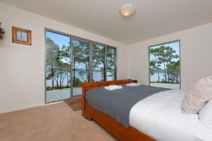 Enjoy the vista from bed in the master bedroom
