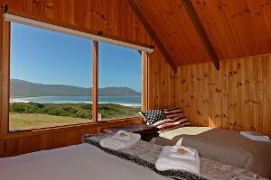 Bedroom with views of South Bruny Island National Park