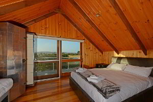 Bedroom three with Cloudy Bay Lagoon views
