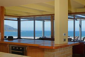 Kitchen area with panoramic views of the South Pacific Ocean