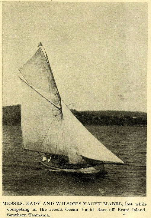 The yacht Mabel, wrecked in the 1902 Ocean Race