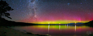 The spectacular colours of the southern Aurora Australis and Milky Way