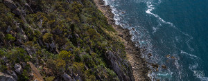 Overhead view of rocky cliffs