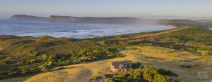Aerial view of Cloudy Bay Villa holiday accommodation