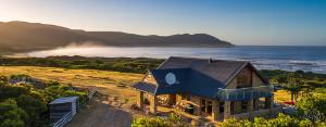 Close up exterior view of Cloudy Bay Villa holiday accommodation