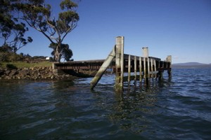 The old jetty at Partridge Island in the d'Entrecasteaux channel.