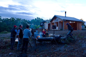 Johanna Griggs and Karen Martini and their team from Better Homes and Gardens stayed at Bruny Island Lodge while filming a Southern Tasmania special