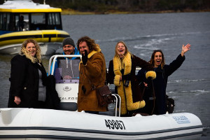 The rock band Spiderbait visited Bruny Island Lodge as part of Festival of Voices
