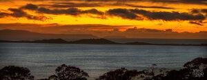 Bruny Island neck at sunset