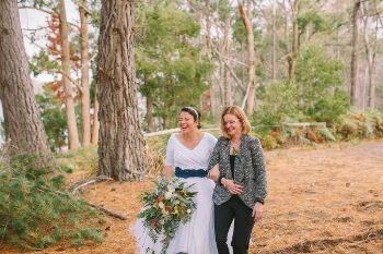 Kim and Amy wedding ceremony at Bruny Island Lodge